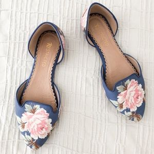 Restricted Glory Floral D'Orsay Flats Size 8.5